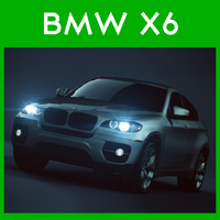 car bmw x6 3d obj