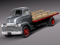 v8 antique chevrolet pickup truck 3d obj
