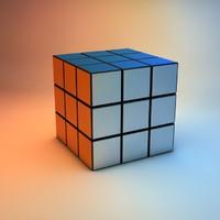 3d model rubik cube