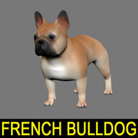 french bulldog obj