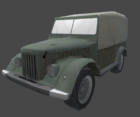 3d model of gaz69 polys ready