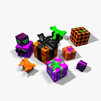 3d presents bows boxes