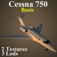 cessna 750 basic 3d max
