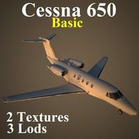 3d cessna 650 basic