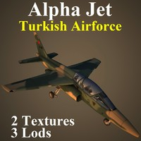 3d max alpha jet taf