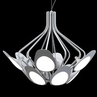 3d model kundalini peacock chandelier
