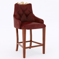 leather dining chair obj