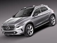 3d model 2013 mercedes mercedes-benz suv