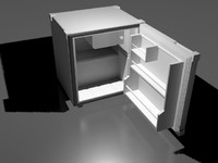 mini-fridge freezer kitchens 3d model