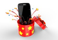 phone fireworks stars 3d model
