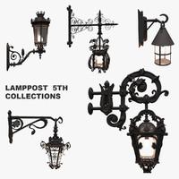3d model street lamps