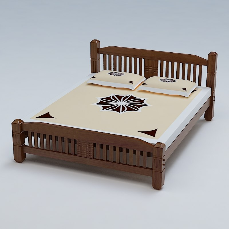 3ds max bed cot for 3ds max bed model