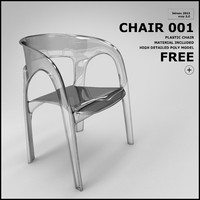free chair 001 3d model