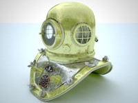 3d model of diving helmet
