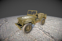 Low poly Military jeep