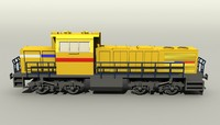 3d german diesel locomotive mak model