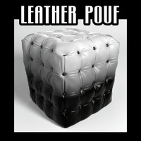 3d leather pouf