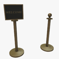 3d stanchion ready s model