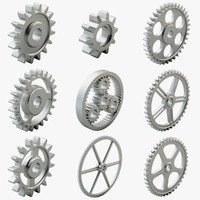 3dsmax 9 gears set