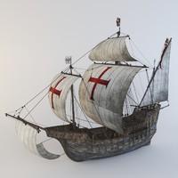 3ds max ship santa maria