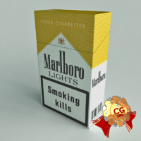 pack marlboro cigarettes 3d model