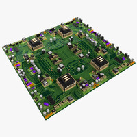 3d big circuit board city