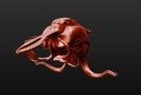 3d model alien insect