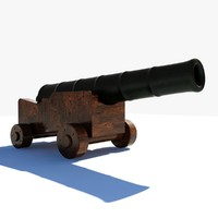 3d knights cannon model