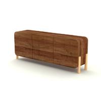 designed wooden 3d model