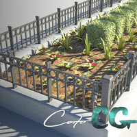planter city sidewalks 3d model