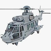 eurocopter ec725 caracal tactical 3d model