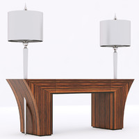 Francesco Molon N503 console ELECTRA BIS with lamps