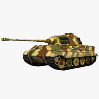 3d model german wwii heavy tank
