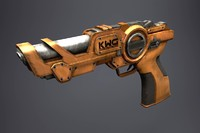 Sci-Fi Pistol (Low Poly)