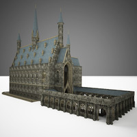 3d great hall model