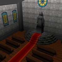 3d 3ds medieval church interior