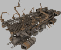 mobile shipyard 3d model