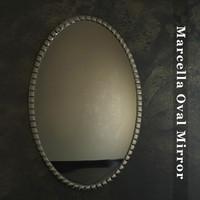3d model marcella oval mirror