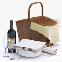 picnic basket wine bottle max