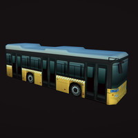 city bus 3d obj