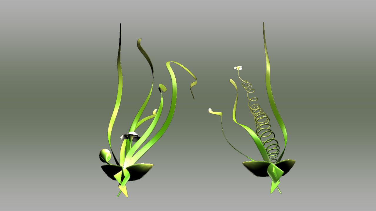 obj vallisneria freshwater aquatic