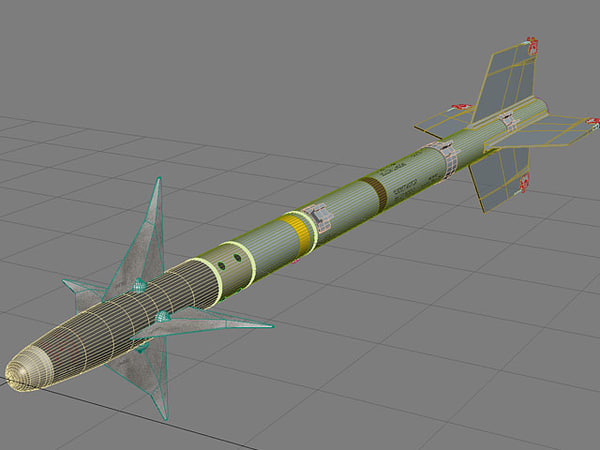 3d missile fighter aircraft - AIM-9M Sidewinder... by Mesh Factory
