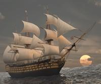 hms victory ship 3d model