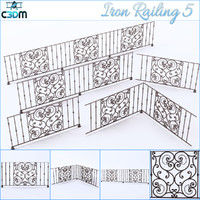 3ds iron railing