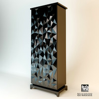 3d fendi diamond cabinet model