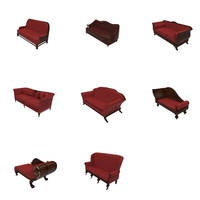 couch chair sofa 3d model