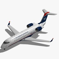 3d bombardier crj-200 airways express model