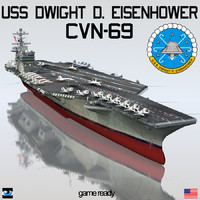 3d model uss dwight d eisenhower