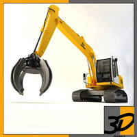 3ds max liebherr grapple