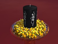 3d halloween centerpiece candle model